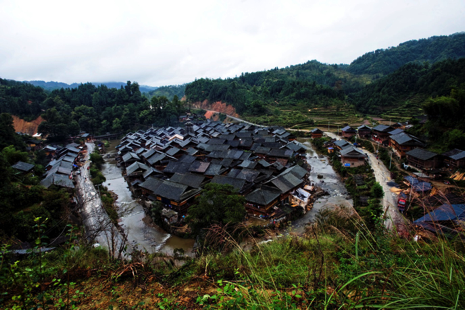 Village Cengcun, district de Congjiang au Guizhou. Crédit photographique : SUN Hua, CHEN Xiao, «Tous droits réservés».